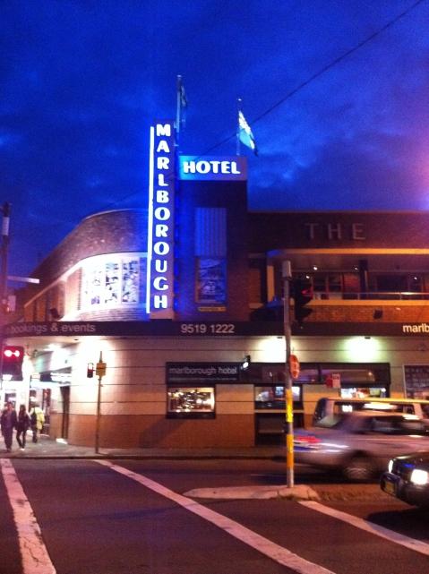 blue night at marly bar