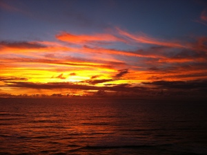 Sunset from Uluwatu cliffs
